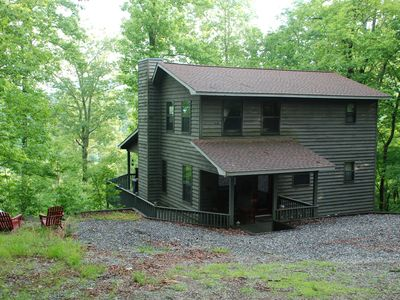 Photo for Eagles View Cabin sleeps 6 Blairsville Ga. Private Mtn Cabin.Covered Porch
