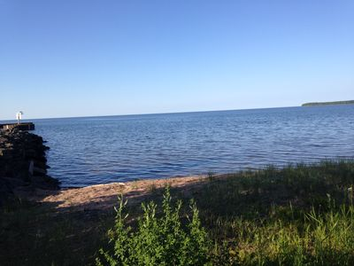 Large home located on the shores of Lake Superior and Big Bay Harbor of Refuge