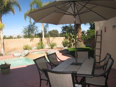 Poolside Dining area (BBQ Grill just out of picture)