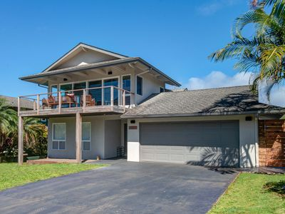 Photo for Ocean + Bay View Hanalei Bluff House With Pool