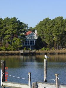 Photo for Luxury vacation home in North Shores on boat basin with dock,2 blocks from beach