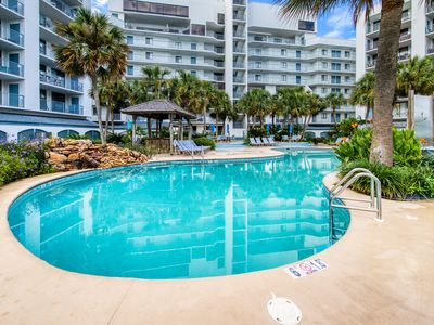 Photo for Waterfront condo w/ beach access, shared pool, hot tub, & tennis