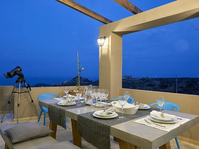 Photo for Spacious Family Villa facing the Aegan Sea with Private Pool, Jacuzzi and childrens Pool