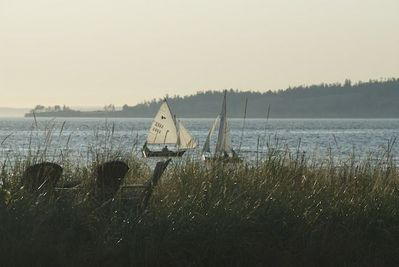 Sailing on Useless Bay - view from our backyard.