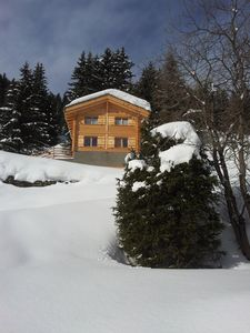 Photo for CHALET BRUSON 4 VALLEES direct access to the slopes and lifts. Fantastic view.