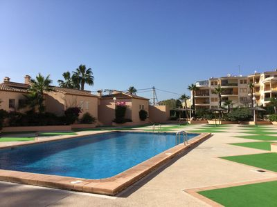 Photo for Nice apartment in Javea 40 meters from the sea with several pools