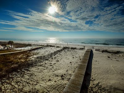 Photo for The Beach is Only Steps Away (F2) BEACHFRONT - Sleeps 8