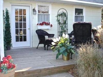 Photo for Piper Cottage  -- 100 Steps to Beach -- Private Deck and Garden Area