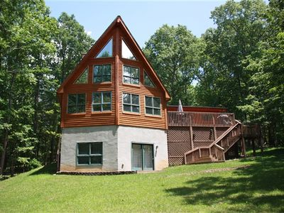 Photo for Four Season's Chalet - Lakefront with Privacy, Great Cove, Kayaks and Paddleboards! Available June 16-22!