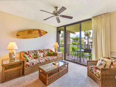 Photo for Fun island vibe! Private lanai, Full Kitchen, Flat Screen TV, Air Conditioning, WiFi- Kamaole Sands