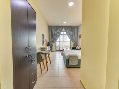 Photo for Nifty Spacious Studio Apartment in Palace Tower 2- Silicon Oasis