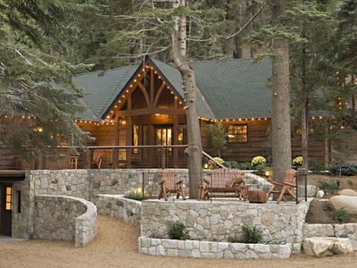 Photo for Exclusive Luxury Lodge on 40 Private Acres, 1/4 mile to Lake Arrowhead Village