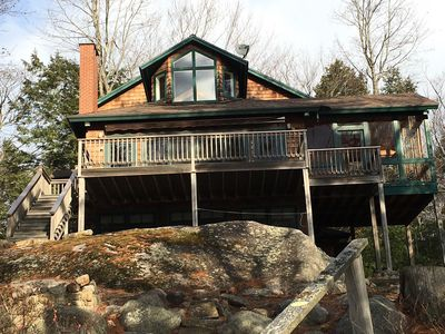 Photo for Beautiful two bedroom on the shores of Sebago Lake