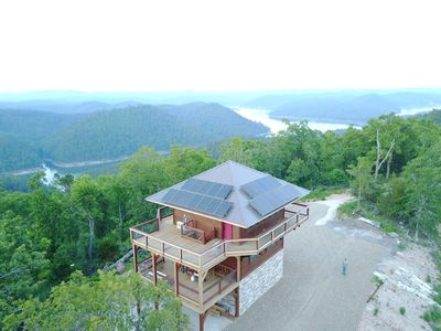 Photo for An amazing fire tower with 360 Degree Panoramic Views Of Kiamichi Mtns & Lake