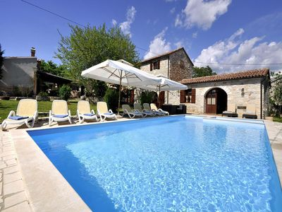 Photo for Comfortable 5 stars villa with a fenced garden of 2000m2, private pool, free WiFi, children's playground, gym, jacuzzi, grill, billiards and table tennis