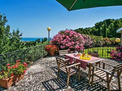 Photo for Villa Oleandri 8, with sea view in Campofilone, 5 minutes from the beaches of the Adriatic coast