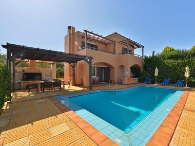 Photo for A modern secluded villa with private pool and panoramic view