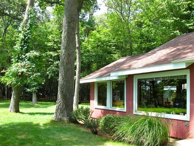 Photo for Cozy Log Cabin Close To Lake Michigan And Fronting White Lake