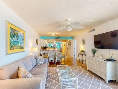 Photo for New Listing! Beachfront home with private balcony, shared pool and beach access