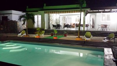 Photo for Superb 3 bed air conditioned villa, private pool, Free Wifi, space game