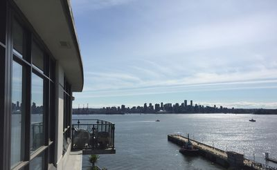 Photo for Luxury 1 BR + den oceanfront condo at Lonsdale Quay/seabus & upscale restaurant