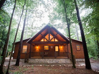 Photo for Creekside Tango Cabin; 3 Br, 3 Bth; Pool Table; Hot Tub; 2 Fireplaces