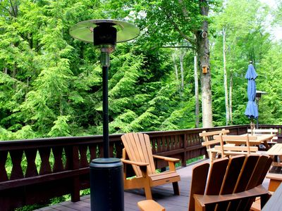 Photo for Top Rated Lake Naomi Chalet Close to Lake, Huge Deck, Fire Pit, Rowboat/Kayaks