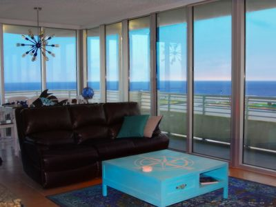 Photo for Floor To Ceiling Windows Overlook The Gulf Of Mexico's Pristine White Beaches