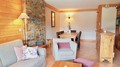 LA PLAGNE - 3 bedroom apartment, ski in, Residence 4 * with swimming pool