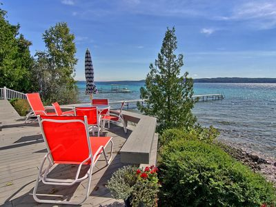 Photo for Luxury  three bedroom home on beautiful, blue Crystal Lake waterfront