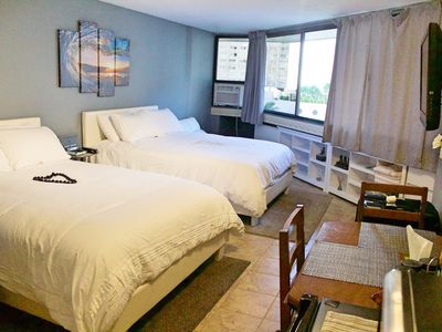 Photo for STEPS FROM WAIKIKI BEACH 2QUEEN-BEDS FREE PARKING/WiFi/POOL/HOTTUB/TENNIS COURT