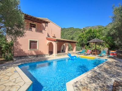 Photo for Villa Apollo: Large Private Pool, Walk to Beach, A/C, WiFi, Car Not Required