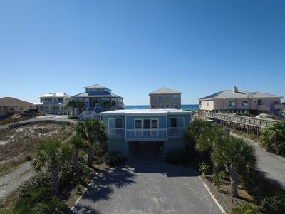 "Photo for Fabulous gulf side and gulf view home, ""Aquarius"" on Dune Allen Beach"