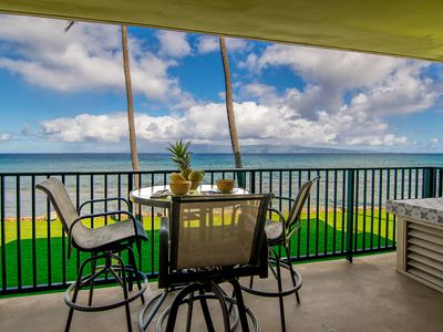 Photo for Papakea's Finest ~ OCEAN FRONT Luxury 2 bedroom 2 bath w/ AC ~ L206