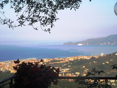 Photo for Cute apartment with seaview over Portofino gulf