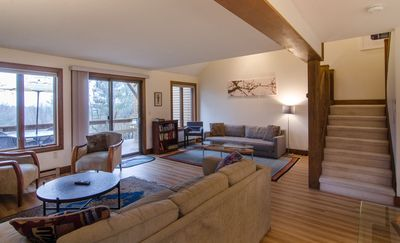 Living room with hardwood floors throughout