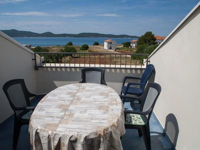 Photo for Two bedroom apartment with terrace and sea view Sukošan, Zadar (A-12313-c)