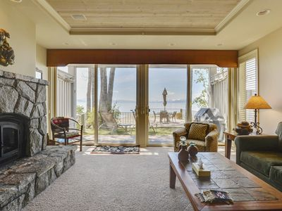 Photo for Upscale Sweetbriar Lakefront Home with Private Deck Overlooking Tahoe!
