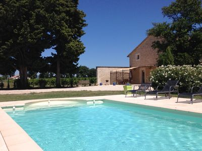 Photo for Mas Le bon Louis, private heated pool, calm sun and serenity