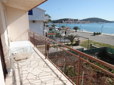Photo for Four bedroom apartment with balcony and sea view Rogoznica (A-7558-a)