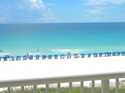 Our gorgeous view taken right from our direct gulf front wrap around balcony.
