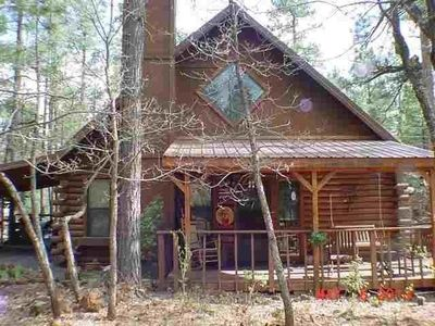 Photo for Cozy Log Cabin Nestled In The Pines In Pt Country Club-Completely Fenced