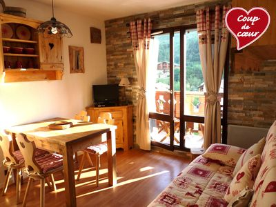 Photo for Apartment 3 * F2 in chalet in Les 2 Alpes -Superb view - 50 m from the slopes - WIFI