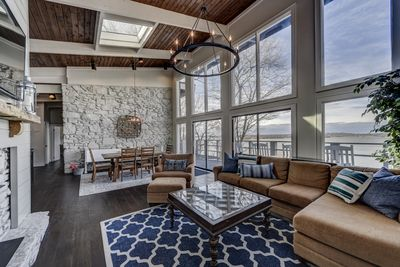 Floor to ceiling windows gives this home a spectacular view of Old Hickory Lake!