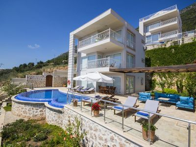 Photo for Beautiful 4 bedroom villa with spectacular views over Kalkan Bay