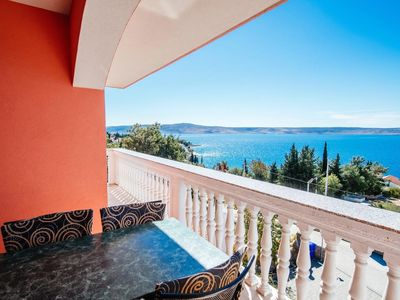 Photo for Two bedroom apartment with terrace and sea view Starigrad, Paklenica (A-14113-b)