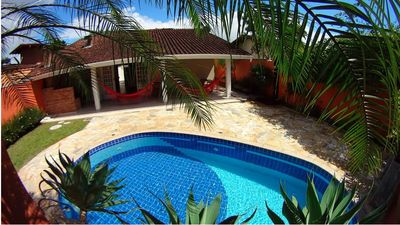 Photo for House with Pool and air conditioning in the heart of Ubatuba next to the Proj. Tamar