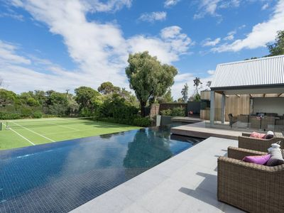 Photo for Infinity Pool, Tennis Court & so close to the Beach
