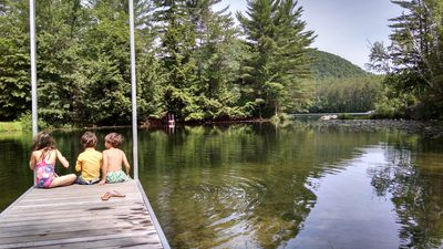Photo for Comfortable Mountain Lodge on Lake with Nearby Trails - near Lincoln, Franconia