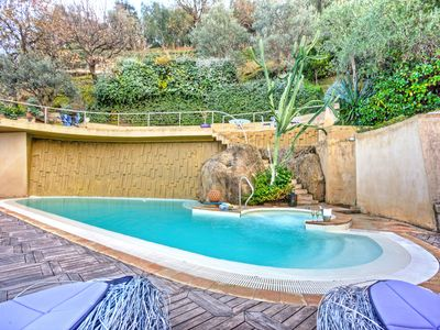 Photo for Amazing villa in front of the sea with private swimming pool with fantastic view
